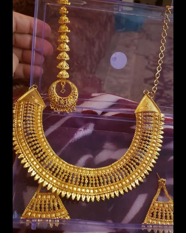 22k gold PLATED Indian bridal wedding jewelry accessory