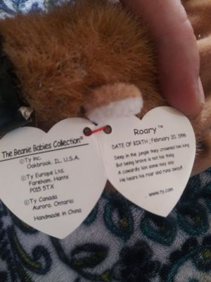 Roary the lion the Beanie Baby 1997 for Sale in Seneca, SC
