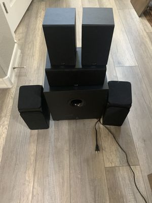 Monoprice Premium 5.1.2 Channel Immersive Home Theater System with Subwoofer for Sale in Las Vegas, NV