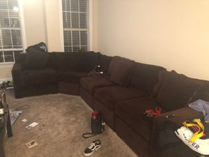 Brown Custom Sectional Couch for Sale in Dunwoody, GA