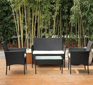 Rattan Sofa Wicker Cushion Outdoor Coffee Table for Sale in Los Angeles, CA