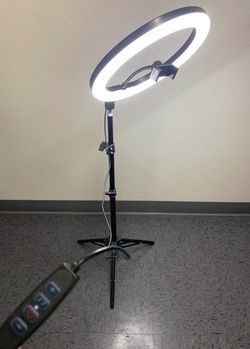 New in box 10 inches Ring LED Light Warm and Cold 3000 to 6500K USB with Adjustable Tripod 59 inches tall and Controller Video Maker Phone Camera Hol for Sale in West Covina,  CA