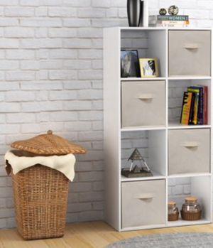 New!! Bookcase, 8 cube bookcase, bookshelves, organizer, living room furniture, storage unit , white for Sale in Phoenix, AZ