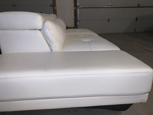 White leather couch for Sale in Richmond Heights, OH
