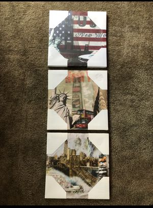 """3 (12""""x12"""") canvas pics new $30/ trade for Sale in Los Angeles, CA"""
