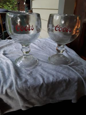 2 Coors glasses,,, for Sale in Linden, PA