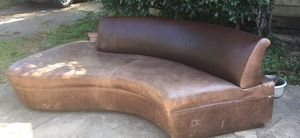 Beautiful like new curved leather couch in great condition for Sale in Houston, TX