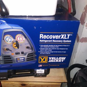 Yellow Jacket Refrigerant-Recovery-Machine-1-2-HP-115V-YELLOW-JACKET for Sale in Tacoma, WA