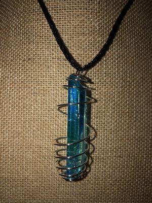 Blue aura quartz stone necklace for Sale in Stockton, CA