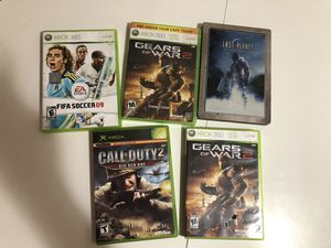 5 Xbox 360 games - $15 for everything for Sale in Los Angeles, CA