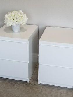 2 IKEA Malm White Nightstands for Sale in Concord,  CA