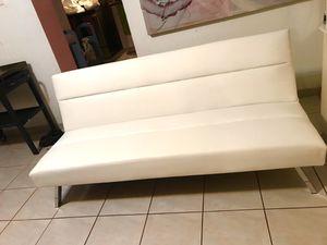 White Futon Music Studio Couch $120 for Sale in Miami, FL