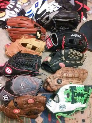 Baseball gloves. Outfield / softball sizes. for Sale in Houston, TX