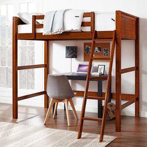 Twin Size Walnut Loft Bed for Sale in Detroit, MI