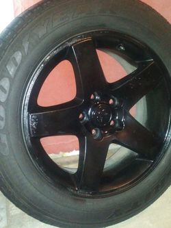"""One Original Factory Dodge Stock Wheel Rim (17"""" inches) for ChargerorChallenger or Trucks With Tire. for Sale in Irving,  TX"""