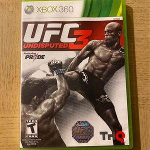 Xbox 360 UFC 3 Video Game for Sale in Matthews, NC