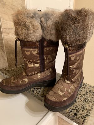 "coach ""lizzie"" boots - women's size 6 1/2 for Sale in Spring, TX"