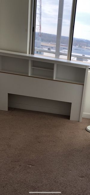 White queen size headboard with shelves for Sale in Annandale, VA