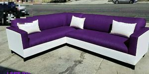NEW 7X9FT PURPLE MICROFIBER COMBO SECTIONAL COUCHES for Sale in Las Vegas, NV