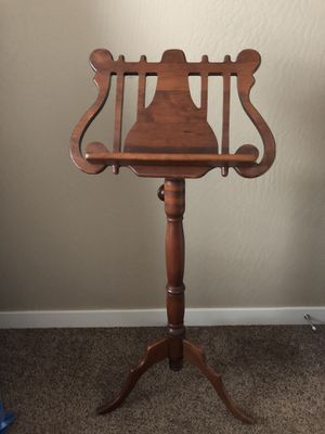 Oak music stand. Adjustable for Sale in Medford, OR