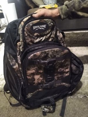 Rustic ridge camo soft pack internal frame backpack, hunting bag for Sale in Woodburn, OR