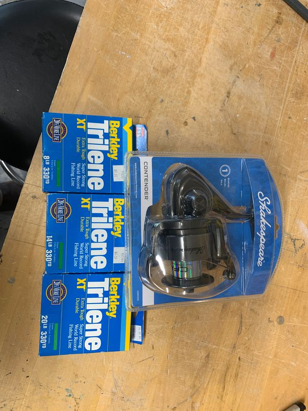 Fishing reel with line