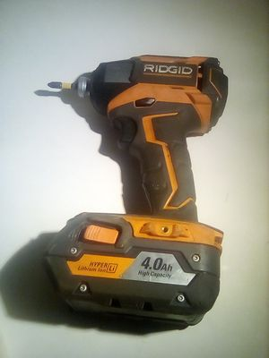 Nice Ridgid cordless impact drill and battery no charger for Sale in Bend, OR