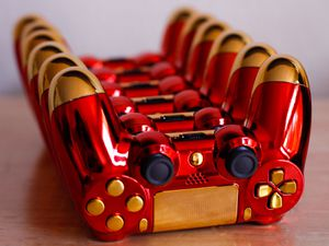 Stark Heart - DUAL SHOCK 4 - Wireless Bluetooth Custom PlayStation Controller - PS4 / PS3 / PC for Sale in Riverside, CA