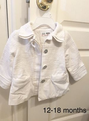 White jacket, coat by Zara baby, size 12-18 months, great condition, kids clothes for Sale in Surprise, AZ