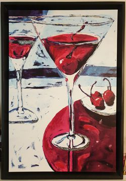 Painting: Martini Glasses with Cherries for Sale in Staten Island,  NY