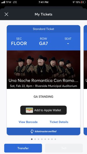 Ramon Ayala Saturday February 22nd - Floor Tickets 8 for Sale in Los Angeles, CA