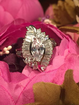 18k White GF Engagement Wedding Solitaire Ring Size 7,8,9 for Sale in Nashville, TN