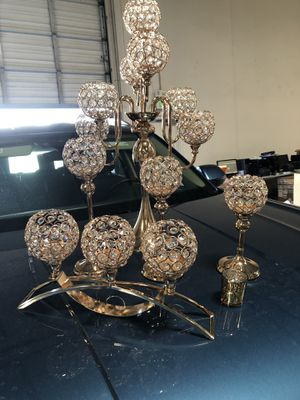 Crystal Candle holder for wedding and party for Sale in Rancho Cucamonga, CA