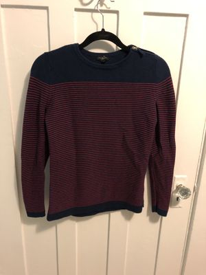 Talbots Small Petite Red & Navy Sweater for Sale in Seattle, WA