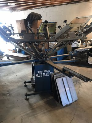 M&R Blue Max 3, screen printing press for Sale in Los Angeles, CA