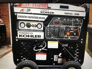 REDUCED. Generator compressor welder New. 3 in one. Triplex 9200 for Sale in Houston, TX