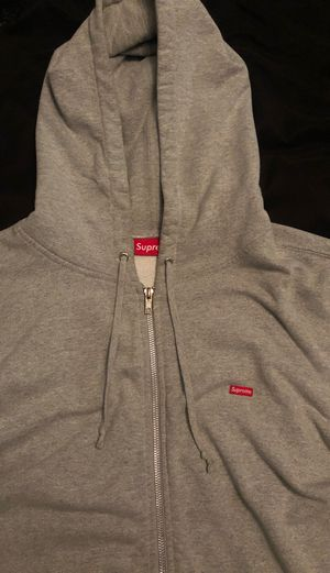 XL Supreme Small Box Logo Zip Up Hoodie Gray for Sale in Bellflower, CA