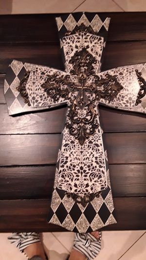 Wooden home decore cross for Sale in Ontario, CA