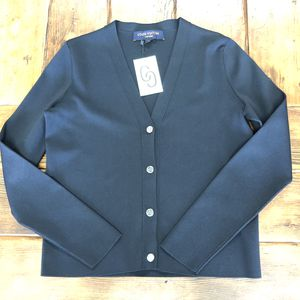 WE ARE OPEN! Louis Vuitton navy blue cardigan with LV bottoms like new for Sale in Las Vegas, NV
