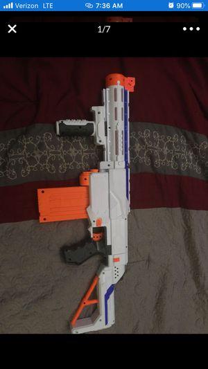 Nerf retaliation elite gun with add ons for Sale in Tempe, AZ