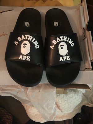 Bape Slippers A Bathing Ape Flip Flops for Sale in Baltimore, MD