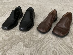 Boys Dress Shoes, No Scuffs, Black-youth size 1, Brown-Toddler size 13 for Sale in Woodbridge, VA