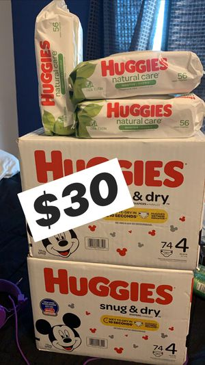 Huggies pampers and wipes for Sale in Cedar Hill, TX