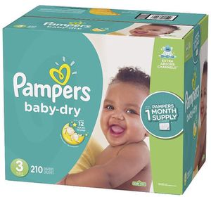 Pampers diapers size 3 Baby Dry for Sale in Downey, CA
