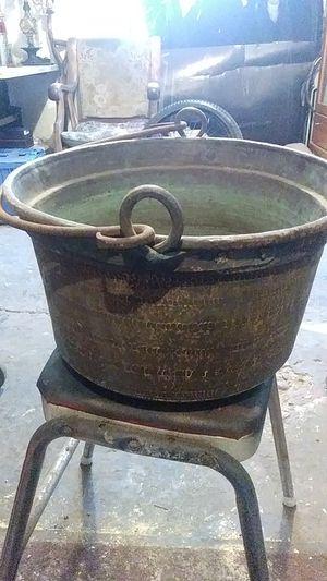 Antique copper apple butter cauldron for Sale in Hayward, CA