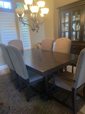 Dining table 6 chairs and hutch for Sale in Linden, CA