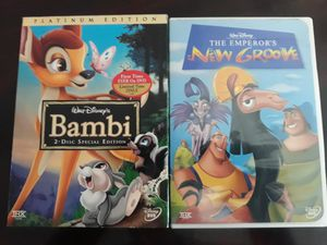 2 Disney's DVD: Bambi & The Emperor's New Groove for Sale in Miami, FL