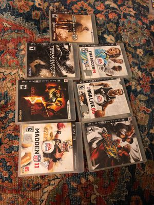 PS3 games (seven) for Sale in Fairfax, VA