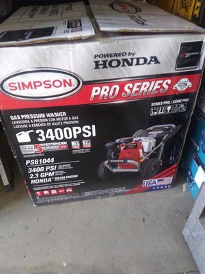 Honda pressure washer 3400psi nuevo gas for Sale in Moreno Valley, CA
