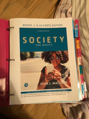 Society The Basics Sociology Textbook 15th edition for Sale in Tampa, FL